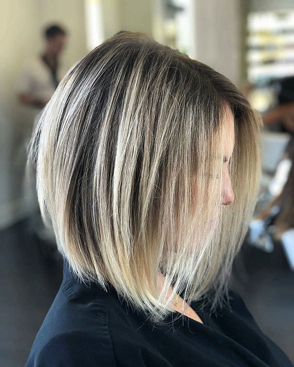 Blonde-Balayages Popular Short Hairstyles for Fine Hair