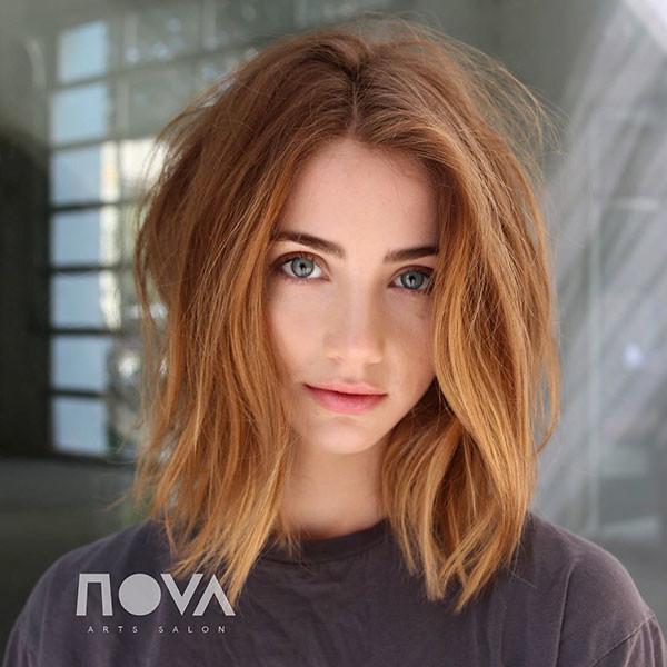 Blonde-Long-Bob-Haircut New Cute Short Hairstyles