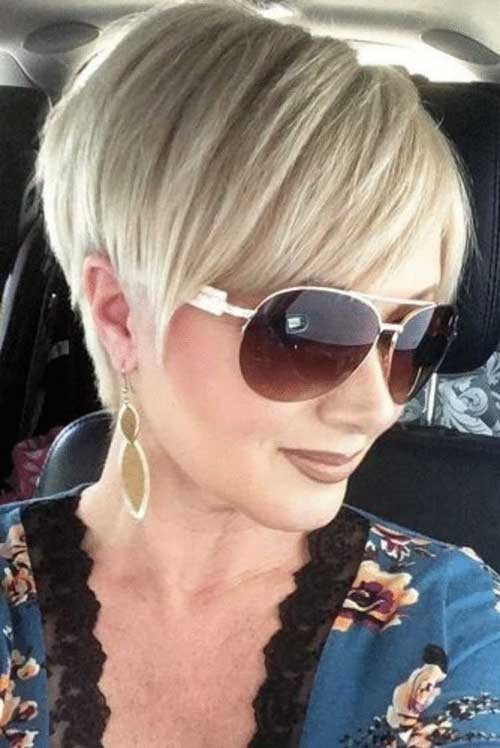 Blonde-Pixie-Bangs Chic Short Haircuts for Women Over 50