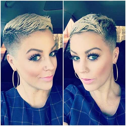 Blonde-Pixie-Cut-for-Women Attractive Pixie Haircuts for Beautiful Women