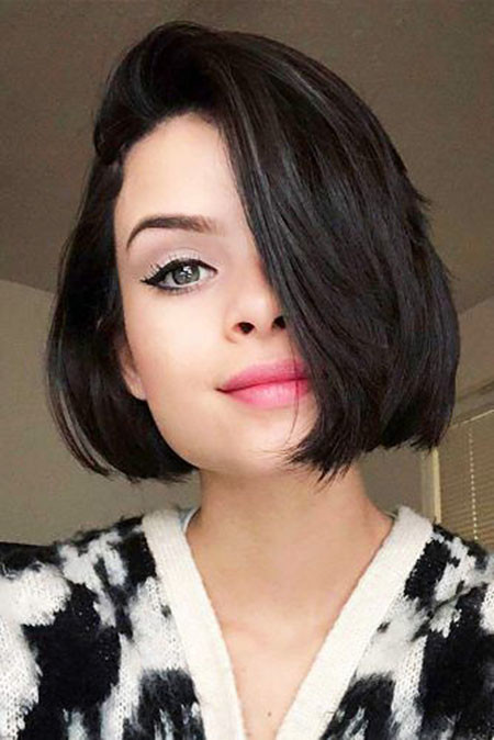 Bob-Hair-with-Bangs Short Bob Haircuts for Women