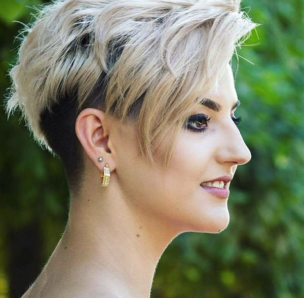 Bridal-Longer-Pixie Wedding Hairstyles for Short Hair 2019