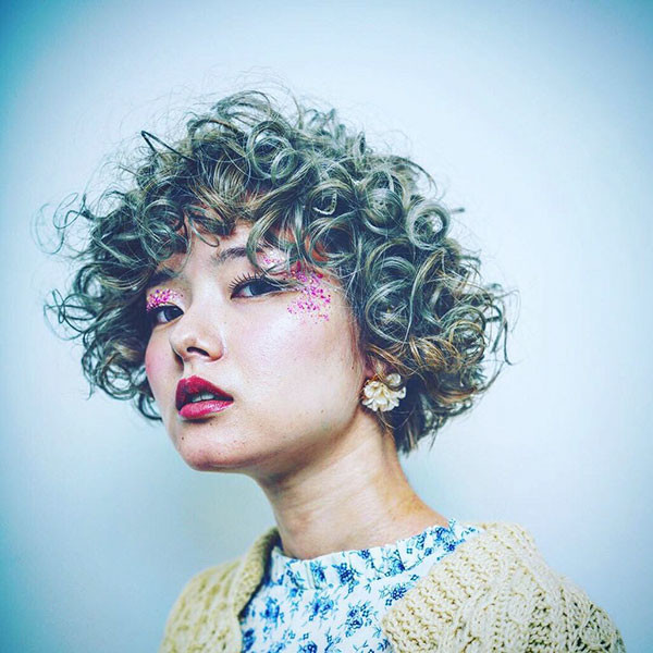 Curly-Bangs Best Short Curly Hair Ideas in 2019