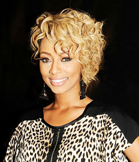 Curly-Hair Keri Hilson Short Hairstyles