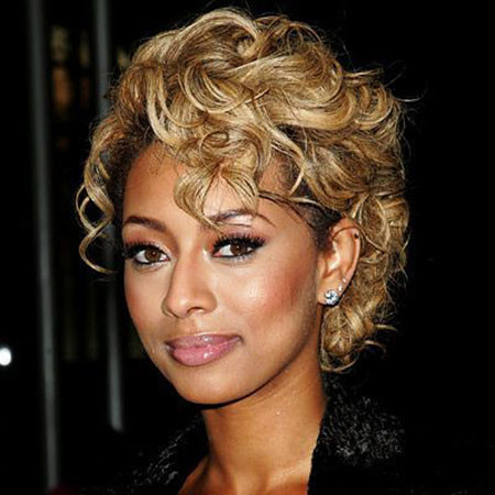 Curly-Hairstyle Keri Hilson Short Hairstyles
