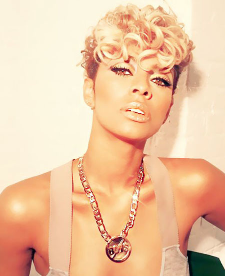 Curly-Pixie-Hair Keri Hilson Short Hairstyles