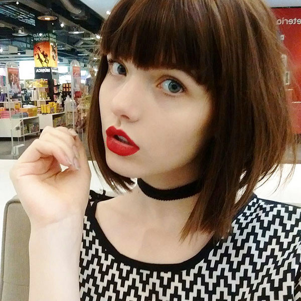 Cute-Bangs-1 Beautiful Short Hair for Girls