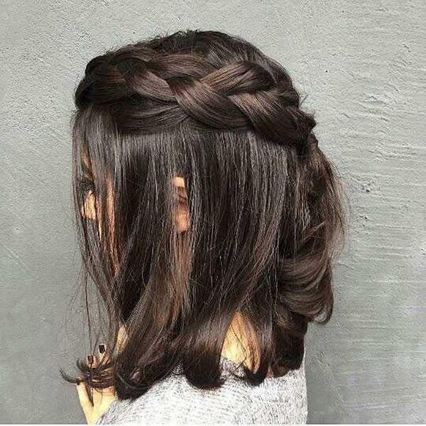 Cute-Half-Up Amazing Braids for Short Hair