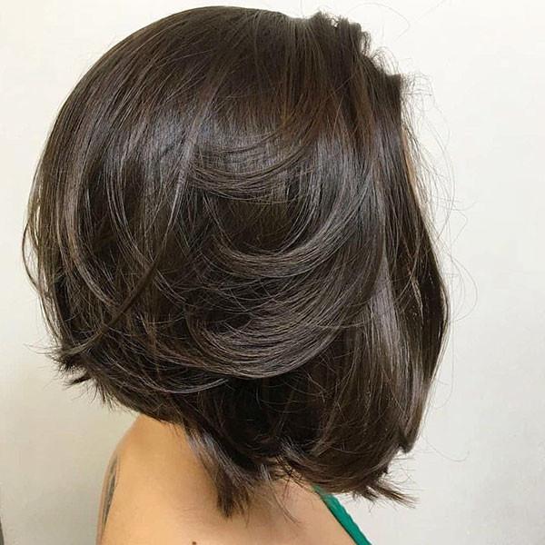 Dark-Brown-Bob Popular Bob Hairstyles 2019