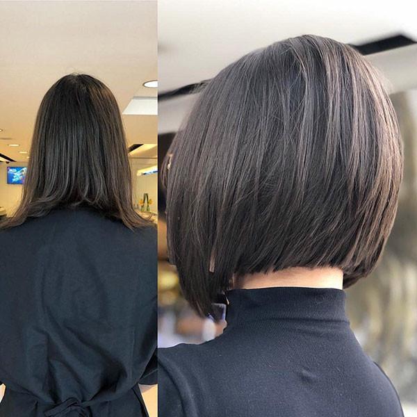 Dark-Brown-Short-Bob Popular Bob Hairstyles 2019