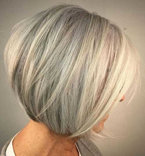 Fine-Bob-Hairstyle Chic Short Haircuts for Women Over 50