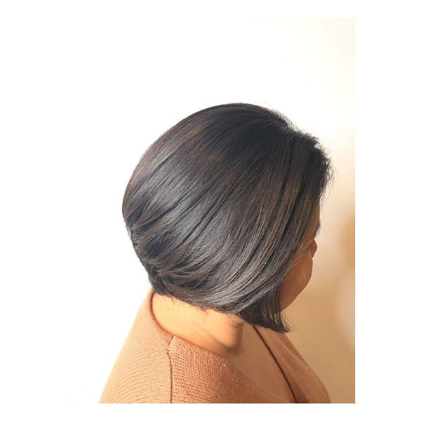 Fine-Simple-Bob-Cut Best Short Hairstyles for Older Women in 2019