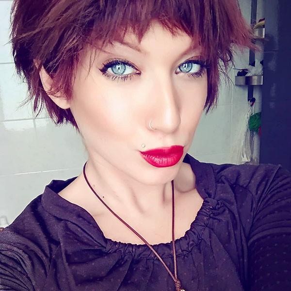 Full-Bangs-Short-Hair New Cute Short Hairstyles