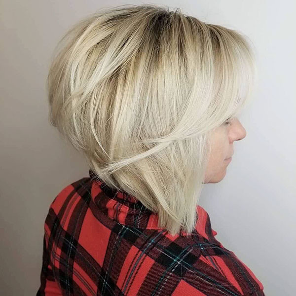 Graduated-Blonde-Bob New Short Blonde Hairstyles