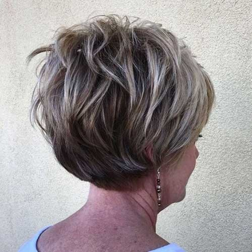 Graduation-Layered-Pixie Chic Short Haircuts for Women Over 50