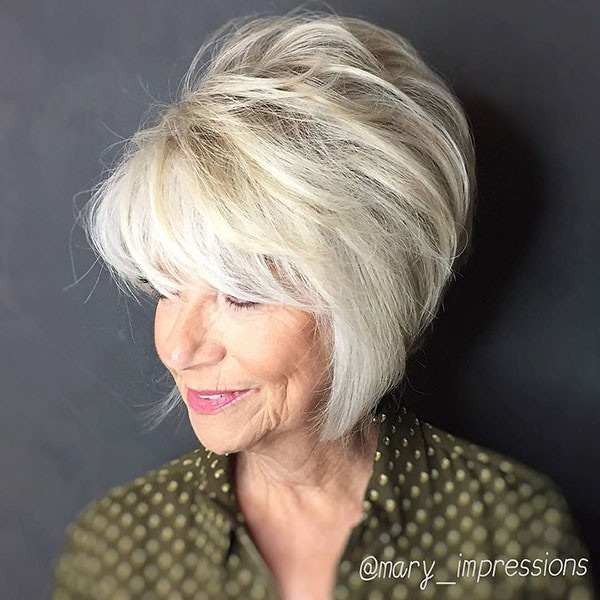 Graduation-Layered-Short-Hair Best Short Hairstyles for Older Women in 2019