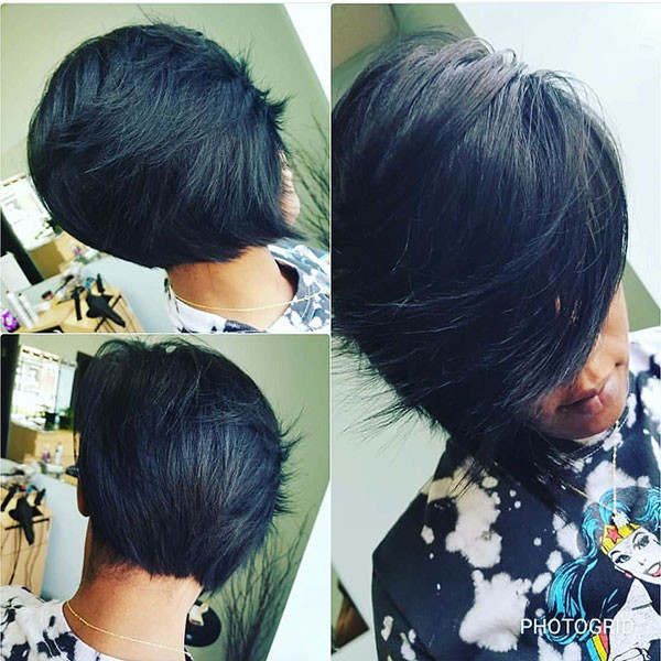 Graduation-Layered Best Bob Hairstyles for Black Women Pictures in 2019