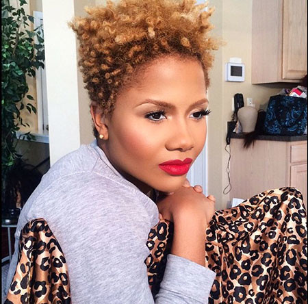 Hair-with-Color Short Natural Hairstyles with Color
