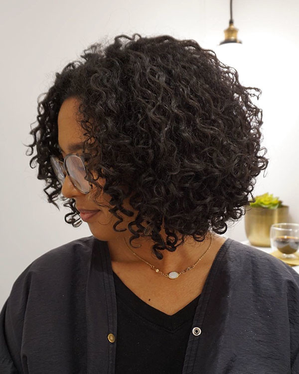 Hairstyle-for-Short-Natural-Curly-Hair Best Short Curly Hair Ideas in 2019