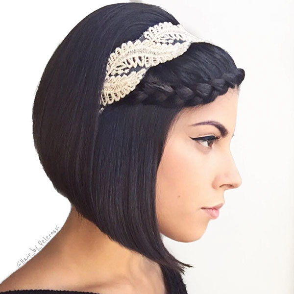 Headband-Style Amazing Braids for Short Hair