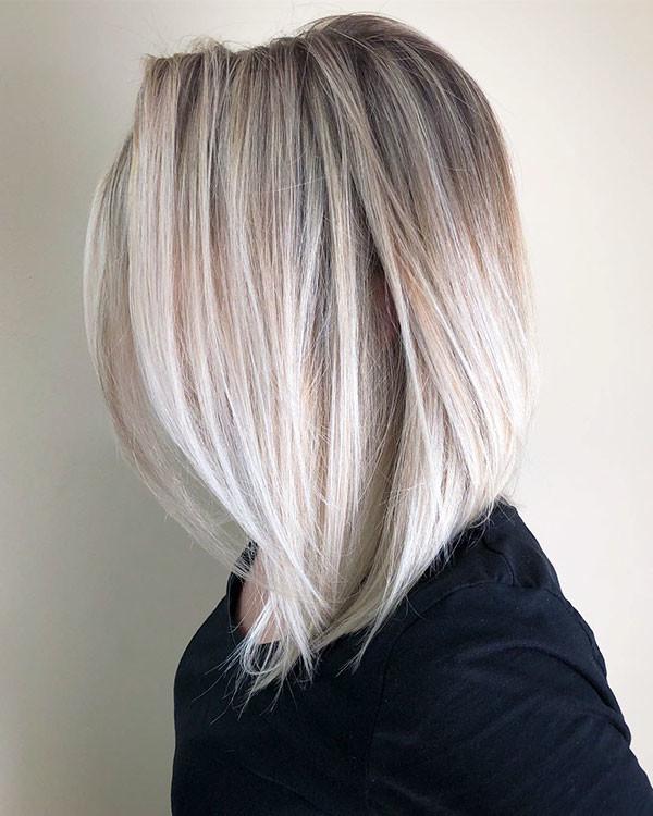 Ice-Blonde-Fine-Hair Popular Short Hairstyles for Fine Hair