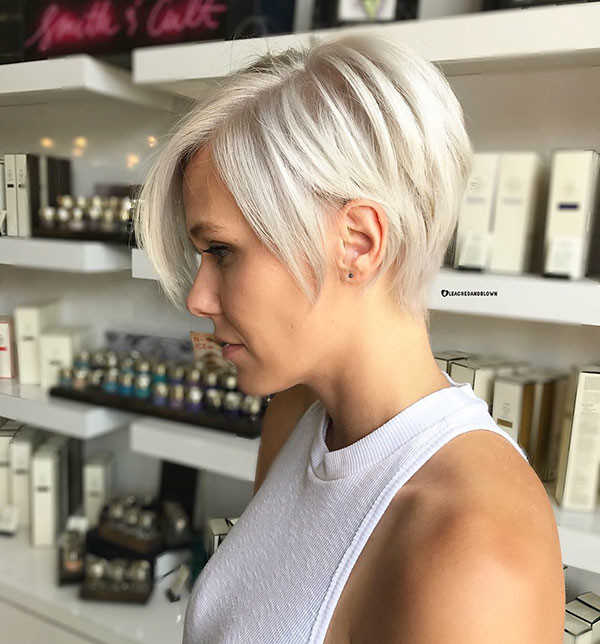 Ice-Blonde-Pixie-Hair-Color New Short Blonde Hairstyles