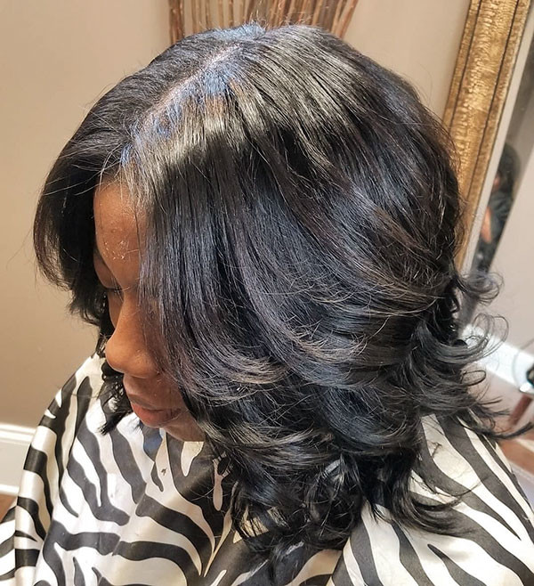 Layered-Weave-Bob Best Bob Hairstyles for Black Women Pictures in 2019