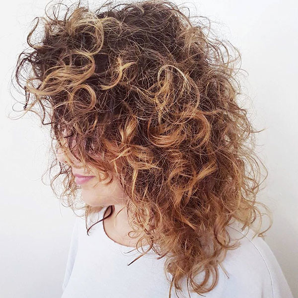 Long-Bob-Messy-Curly-Hair Best Short Curly Hair Ideas in 2019