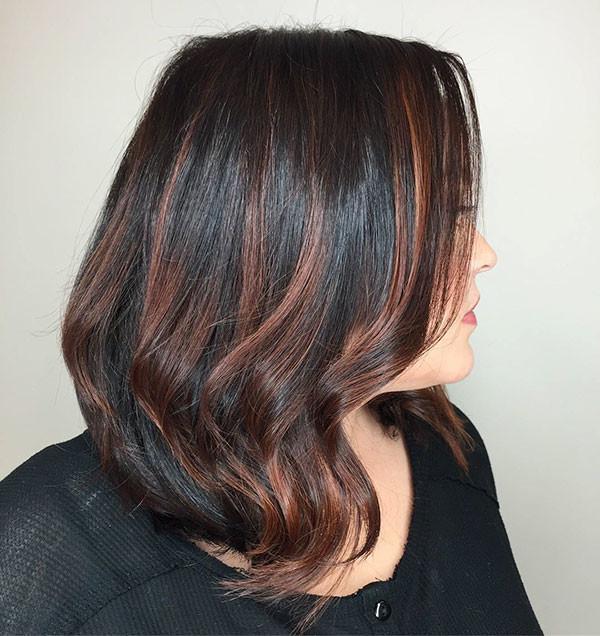 Long-Bob-with-Caramel-Lights New Best Short Haircuts for Women