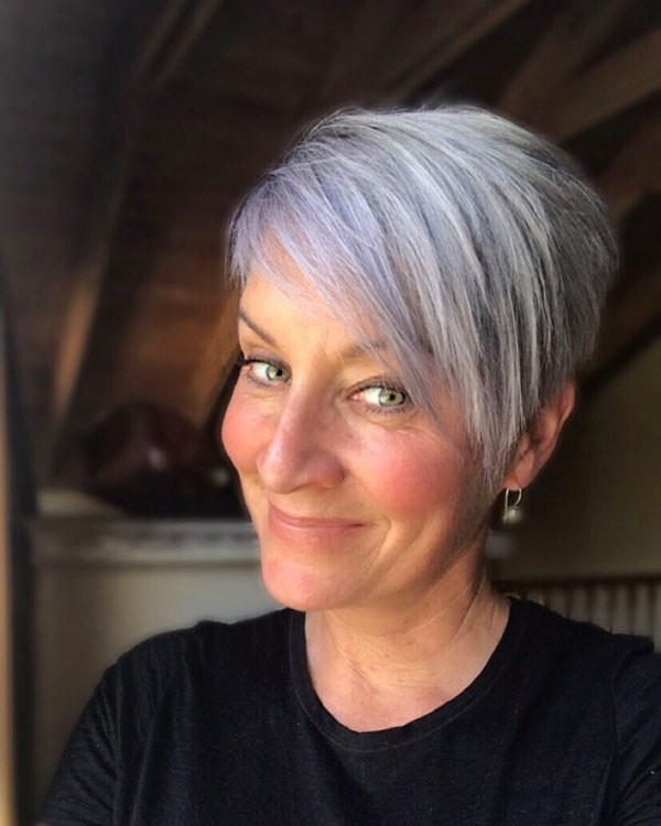 Long-Layered-Pixie Best Short Hairstyles for Older Women in 2019