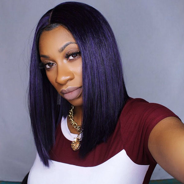 Long-Straight-Bob Best Bob Hairstyles for Black Women Pictures in 2019