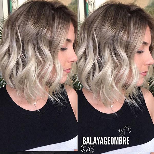 Long-Wavy-Curly-Bob Best Short Curly Hair Ideas in 2019