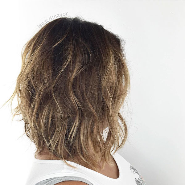 Low-Maintenance-Hairstyle Best Short Wavy Hair Ideas in 2019