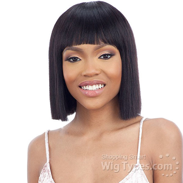 Medium-Bob-with-Bangs Best Bob Hairstyles for Black Women Pictures in 2019