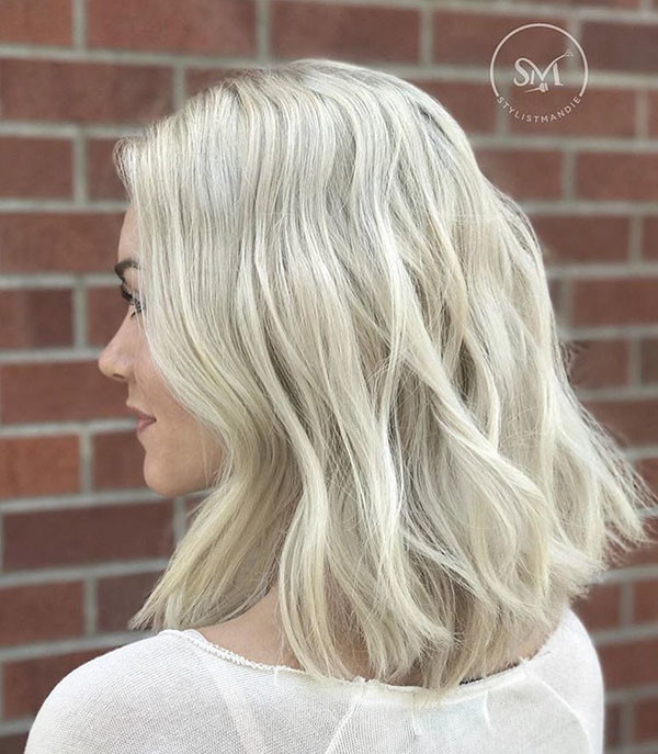 Messy-Long-Bob New Short Blonde Hairstyles