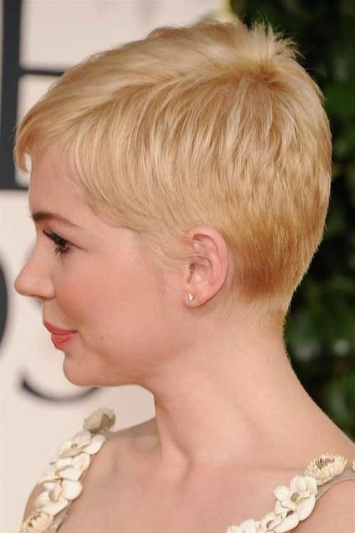 Michelle-Williams-Pixie-Cut Best Short Fine Hairstyles Women 2019