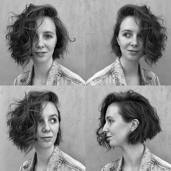 Natural-Bob-Style Best Short Curly Hair Ideas in 2019