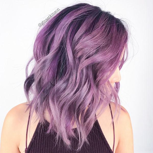 Pale-Purple Best Short Wavy Hair Ideas in 2019