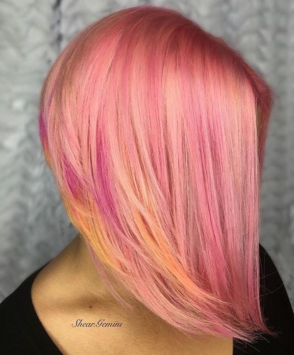 Pastel-Pink-Bob-Hair Popular Bob Hairstyles 2019