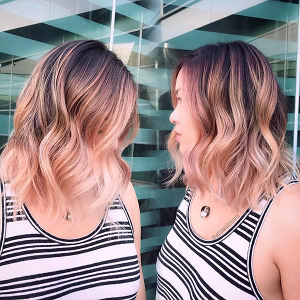 Pink-Blonde-Hair Best Short Wavy Hair Ideas in 2019