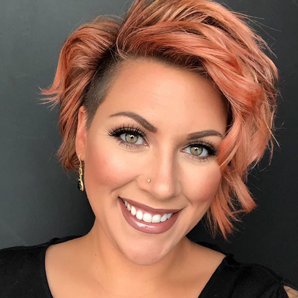 Pink-Short-Hair-Color New Cute Short Hairstyles