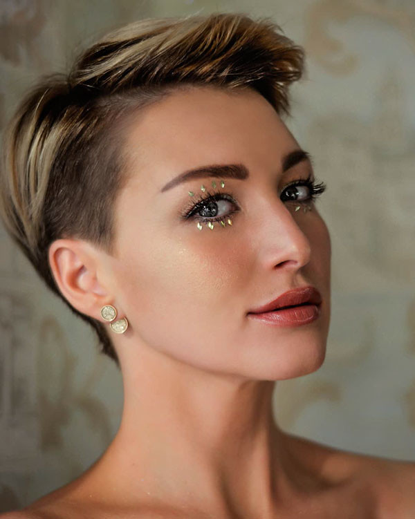 Pixie-Style Wedding Hairstyles for Short Hair 2019