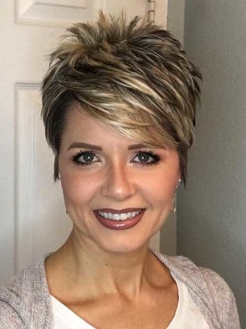 Razored-Cut Chic Short Haircuts for Women Over 50