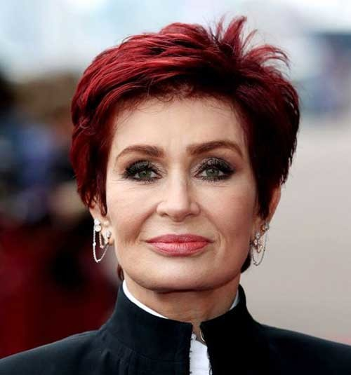 Red-Short-Haircut Chic Short Haircuts for Women Over 50