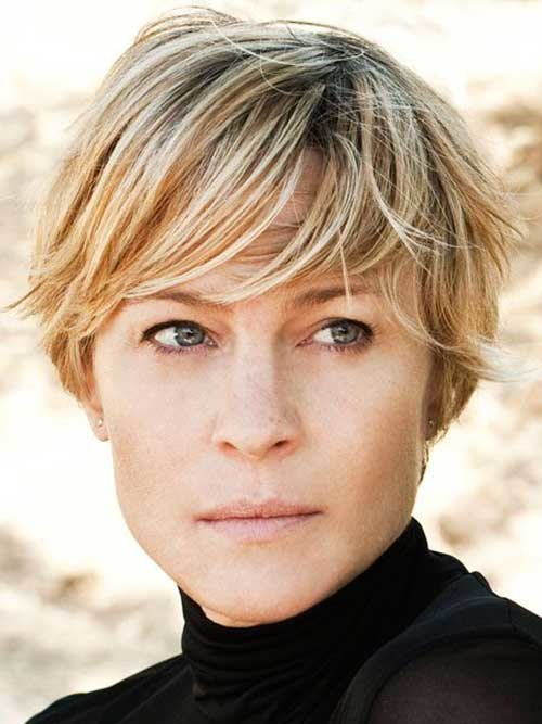 Robin-Wright Brilliant Short Straight Hairstyles