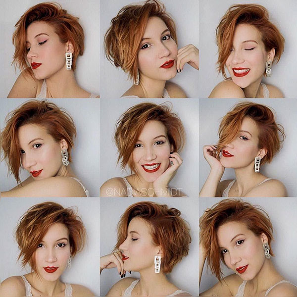 Rose-Gold-Cute-Short-Hair New Cute Short Hairstyles