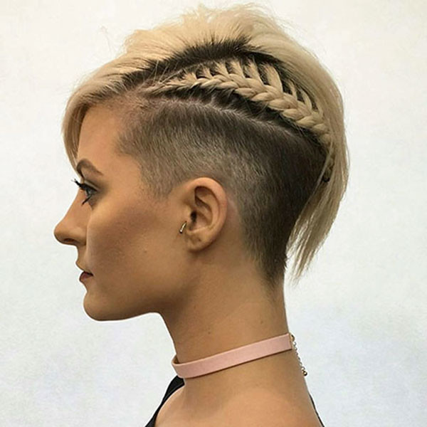 Shaved-Hair-and-Braid Amazing Braids for Short Hair