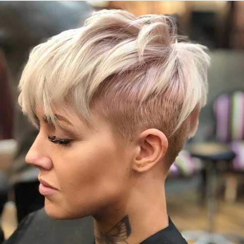 Shaved-Sides-Long-Top Stylish Pixie Haircuts Every Women Should See