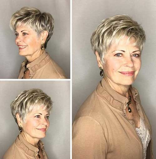 Short-Blonde-Hairstyle-for-Older-Ladies Chic Short Haircuts for Women Over 50