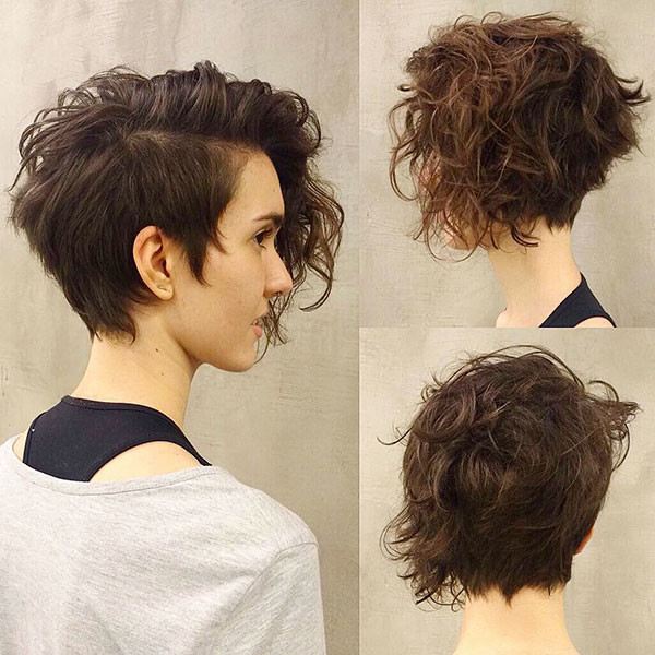Short-Haircut-for-Thick-Curly-Hair Best Short Curly Hair Ideas in 2019